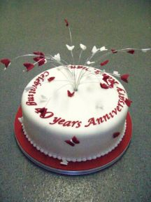 View the Anniversary Cakes gallery from Bramley Village Bakery