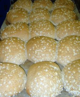 Bread rolls straight from the oven at the Bramley Village Bakery