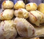 Cream buns at the Bramley Village Bakery